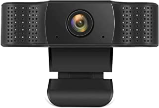 1080P Webcam with Microphone, HD Streaming Web Camera, Plug and Play, Wide Angle USB Camera Compatible with PC Computer La...