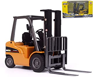 Ailejia 1/50 Scale Forklift Trucks Alloy Models Fork Truck Warehouse Truck Vehicle Model Engineering Car Toy Boy Gift (Forklift)