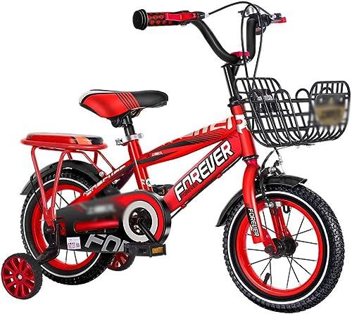 DT Bicicleta para Niños de 3 a 6 años Bebé Niño Cochecito de Niño Bicicleta para Niños de 11 a 12 años (Color   rojo, Tamaño   16 Inches)