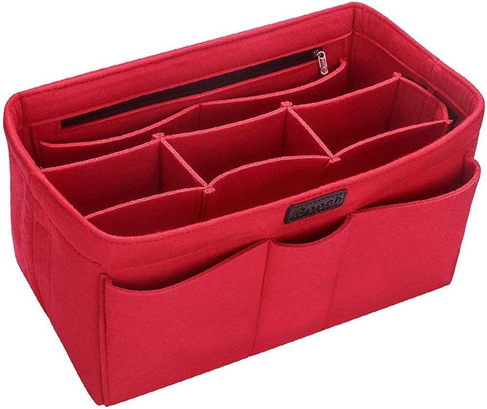 Ropch Handbag Purse Organizer Felt Bag Multi-Pocket with Insert In Max 63% OFF stock