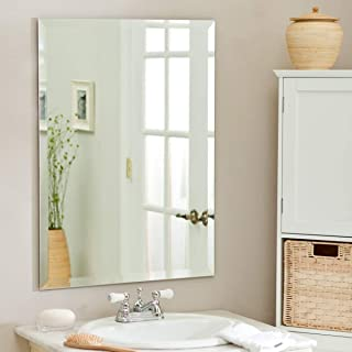 Quality Glass Premium Quality Frameless Decorative Mirror | Mirror Glass for Wall | Mirror for Bathrooms | Mirror in Home | Mirror Decor | Mirror Size : 18 inch X 24