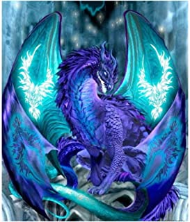 DIY 5D Diamond Painting Kits for Adults Crystal Rhinestone Embroidery Pictures Arts Craft for Home Wall Decor Full Drill (Flying Dragon)