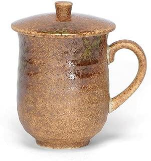 Japanese Mug with Lid, Iga Oribe