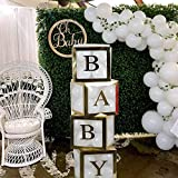 Baby Shower Boxes 4Pcs Transparent Balloon Box Balloon Clear Box for Baby First