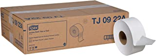 "Tork Universal TJ0922A Jumbo Bath Tissue Roll, 2-Ply, 8.8"" Dia, 3.55"" Width x 1,000' Length, White (Case of 12 Rolls, 1,000 per Roll, 12,000 Feet)"