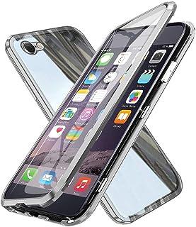 XCYYOO Coque pour iPhone 6/iPhone 6s,360 Degrés Avant et arrière Verre trempé Transparent Case Cover, Technologie d'adsorp...