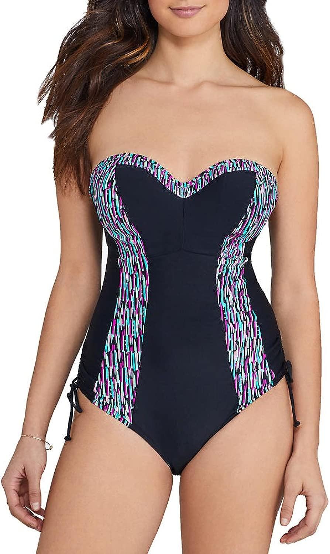 Curvy   Damen Galaxy Swimsuit Einteiler