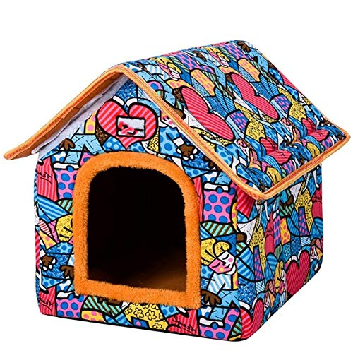 Opvouwbaar hondenhuis Pet Yurt Home Shape Hondenbed voor kleine middelgrote honden Puppy Kennel Cat Animals Nest House With Mat Chihuahua Tent