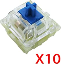 Wholesales Authentic RGB Cherry Switch, Cherry Mx Switches, Keycap, Keyswitches Keymodule Mechanical Keyboard Switches Replacement (10 pcs, Blue 3 pin)