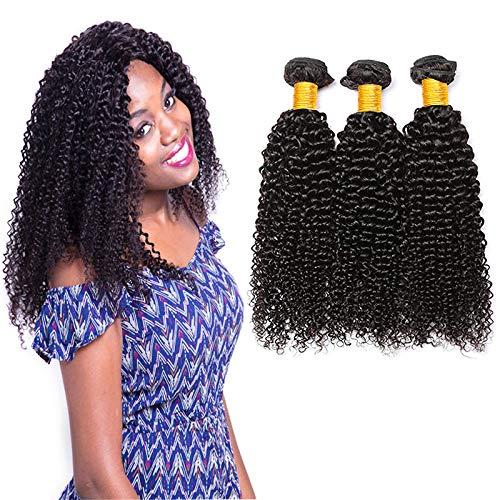 LAdiary capelli umani ricci extension capelli veri tessitura 3 fasci di capelli umani brasiliani capelli ricci extension veri totale 300g 14 16 18 pollice