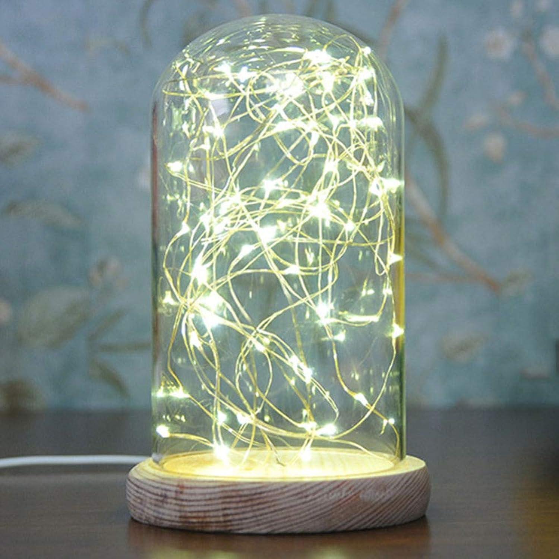 Shuhong Nachtlicht USB-Gebühr Feuerbaum Silber Blaume Romantisches Glas Decken Sie Die Dekorativen Kinderzimmer Ab,Large(warm-Weiß) 12  18cm