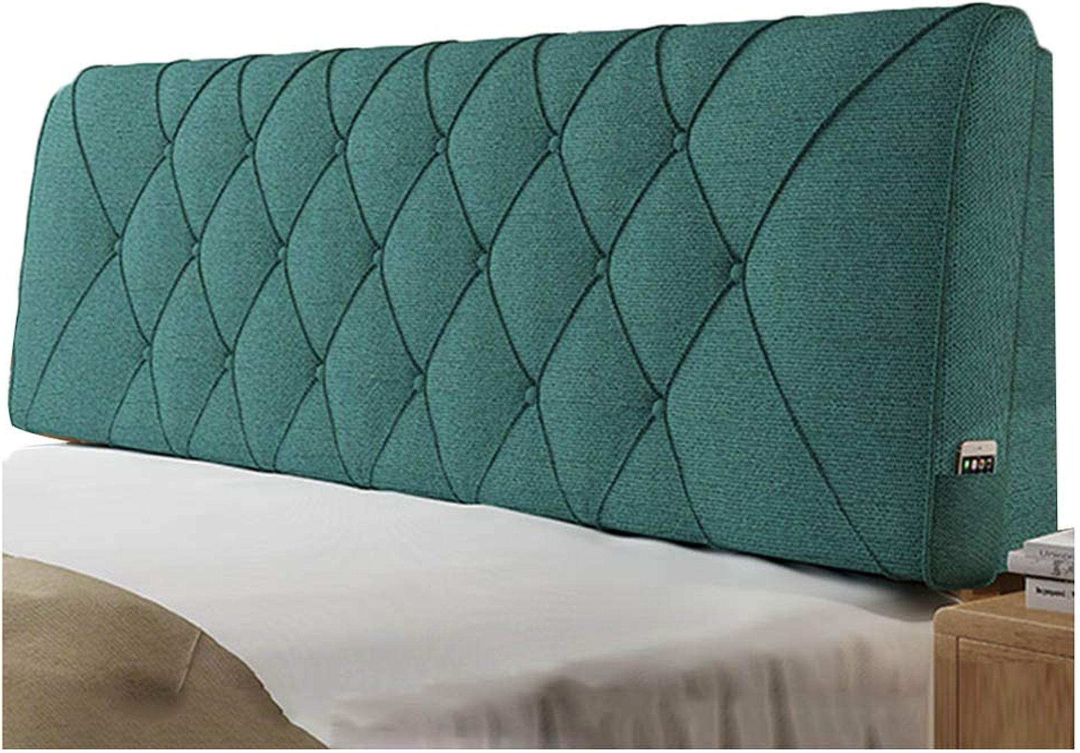 CHAXIA Coussin De Tête De Lit Dossier Oreiller Coussin Lombaire Design Ergonomique Confortable Lin, 5 Couleurs 5 Tailles (Couleur   B, Taille   150x10x58cm)