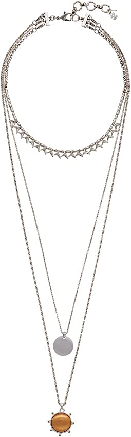 Satin Finish Lucky Layer Necklace