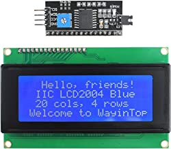WayinTop 20x4 2004 LCD Display Module with IIC/I2C/TWI Serial Interface Adapter for Arduino Uno R3 Mega 2560 (Blue/2004)