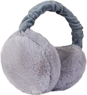 Azue Womens Winter Earmuffs Foldable Faux Fur Ear Warmers Outdoor Protection
