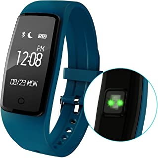 Sports Smart Wristband Heart Rate Monitor Bracelet Bluetooth Fitness Wristband Precision Dynamic Heart Rate Active Sports Monitoring content display(Blue)