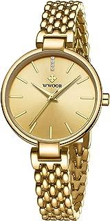 WWOOR Women's Watch Original Fashion Analog Quartz Watches with Stainless Steel Mesh Band Waterproof Wristwatch Casual Gift Watch Ladies