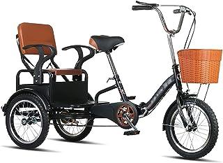 Jlxl Trehjuling 3-hjul Vuxna Cykel Med Kundvagn Cykel Med Korg Rickshaw Cykel Vuxencykel För Outdoor Sports Shopping Max B...