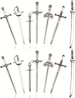 Jewelry Making Findings DIY Supplies Antique SilverBronze Charms,Sabre Sword Necklace,Lovely Jewelry 40pcs Wholesale Sabre Sword Pendant