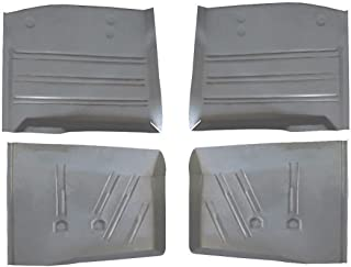 Motor City Sheet Metal - Works With 1955 1956 1957 CHEVY CHEVROLET FRONT & REAR FLOOR PANS ALL 4!