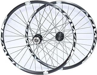 "WXQIANG Bike WHEELSET MTB 26"" 27.5 Inch 29 er Cycling Front Rear Wheels, 32H Double Wall Alloy Wheel Set, Quick Release Di..."