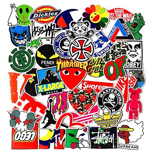 PRETTYSUNSHINE Aufkleber Set 100 Stücke Wasserdicht Vinyl Stickers Graffiti Style Decals für Laptop Koffer Helm Motorrad Skateboard Auto Fahrrad Computer Trend Aesthetic Sticker