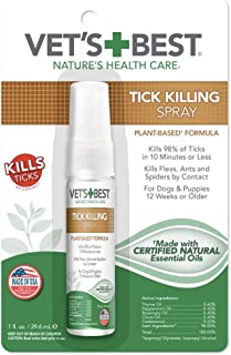 Vet's Best Tick Killing Spray for Dogs and Puppies, 1 fl. oz.