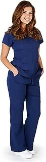 Ultrasoft Premium Mock Wrap Medical Nursing Scrubs Set for Women - Junior FIT