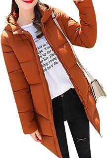 maweisong 女性暖かい冬フードパーカオーバーコートロングジャケットアウトコート