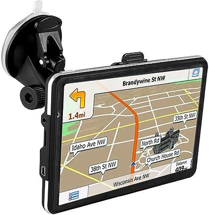Navegador GPS 2019 actualizado, pantalla táctil de 7.0 pulgadas 800x480 GPS navegación sistema estéreo con memoria de 8 GB para vehículo de coche