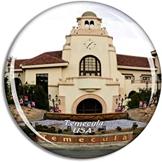 Weekino USA America Temecula Old Town Fridge Magnet Travel Souvenir City Collection 3D Crystal Glass Gift Strong Refrigera...