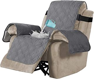 Best H.VERSAILTEX 100% Waterproof Quilted Recliner Chair Cover Recliner Cover Recliner Slipcover for Living Room, Secure with Elastic Strap and Non Slip Puppy Paw Silicone Backing (Oversized, Grey) Review