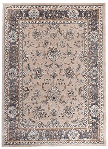 Carpeto Orientteppich Teppich Beige 160 x 220 cm Ornamente Klassisch Muster - Wohnzimmer Schlafzimmer Esszimmer