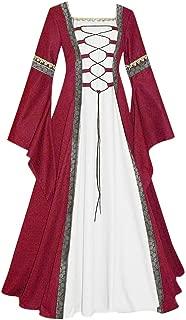 Cosplay Dress Women's Vintage Celtic Medieval Floor Length Dress