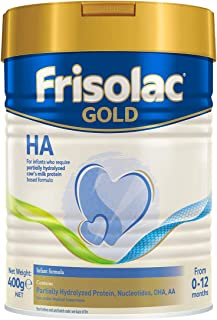 Frisolac Gold Stage 1 HA Baby Milk Formula, 0-12 months, 400g