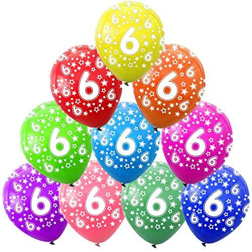 FUNNY HOUSE Decorazioni Compleanno 6 Anno, 6 ° Compleanno Palloncini, Addobbi Compleanno 6 Anni Anniversario Decorazioni Festa Compleanno (30 PCS)