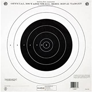 Champion Traps and Targets 40777 NRA Paper TQ-4(P) 100-yard Single Bullseye to Train or Qualify Target (Pack of 100)