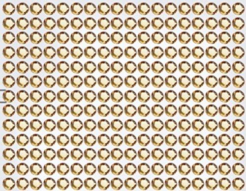 234 Strasssteine selbstklebend Glitzersteine zum Aufkleben rund Glitzer Aufkleber 5mm groß champagner gold