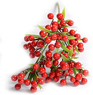 Martinimble Ivy Red Berry Berries Bush Bouquet Christmas Vine Holly Xmas Festive Fern Home Office,Christmas Tree Decorations,Holiday,Home,Party,Wedding Ornaments