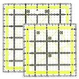 Acryl-Quilter-Lineal, 2 Größen, 11,4 cm und 15,2 cm, quadratisches Nählineal für einfaches Präzisionsschneiden, Quilten, Nähen, Heimwerken, Basteln