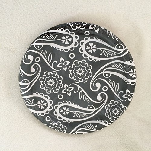 Black Damask Paper Plates 18 ct. by Party!