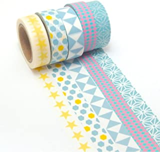 a391a5794c5 K-LIMIT 5 Set Washi Tape rollos de Washi Tape, cinta decorativa  autoadhesivo,