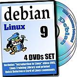 Linux Debian 8, DVD d'installation 4-Discs And Set de référence