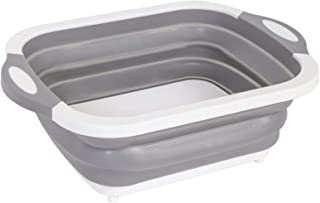 Lavabo pliable Bassin pliable - Barrette de découpage pliable multifonction 3 dans 1 Du lavabo pliante Panier de vidange T...