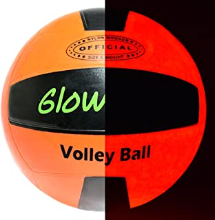 GlowCity Glow-in-The-Dark Light-Up Volleyball – Official Size and Weight – Impact Activated LEDs – Batteries Included and Water-Resistant, Ideal for Beach and Court Play
