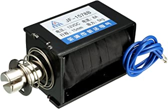 uxcell DC 12V 50N 15mm Pull Push Type Solenoid Electromagnet Open Frame Type Linear Motion JF-1578B