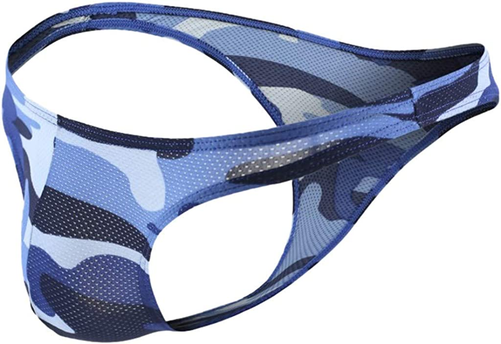 Camo Bugle Pouch Briefs for Men,Male Summer Mesh Breathable Quick Dry Underwear Classic Triangle Underpants by Leegor