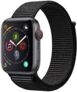 Apple Watch Series 4 (GPS + Cellular) con caja de 44 mm de aluminio en gris espacial y correa Loop deportiva negra