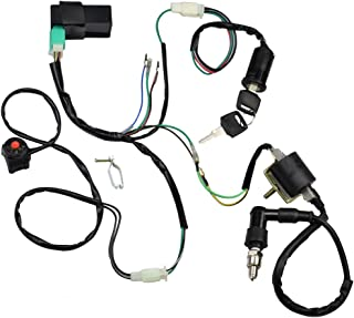 amazon atv utv ignition coils ignition automotive PlayStation Wiring minireen wire harness wiring loom cdi ignition coil spark plug rebuild kit for 50cc 70cc 90cc