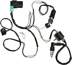 Minireen Wire Harness Wiring Loom CDI Ignition Coil Spark Plug Rebuild Kit for 50cc 70cc 90cc 110cc 125cc Stator CDI Coil ATV Quad Bike Buggy Go Kart